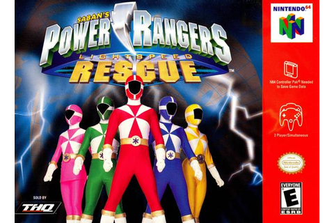 Power Rangers Lightspeed Rescue Nintendo 64 Game