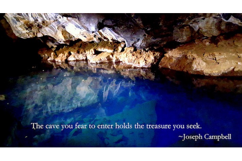 "Writing and the Creative Life: ""The cave you fear to enter ..."