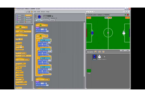 Scratch game project - a football match Barcelona vs ...