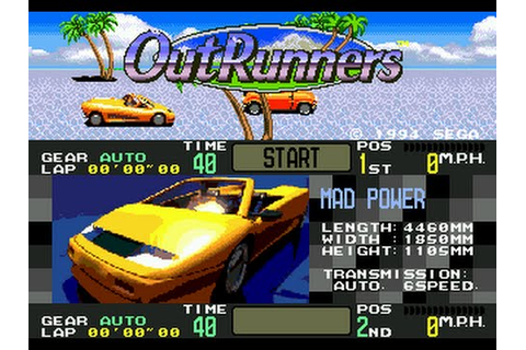 OutRunners On SEGA Megadrive/Genesis - YouTube
