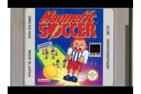 Classic Game Room - MAGNETIC SOCCER review for Game Boy ...