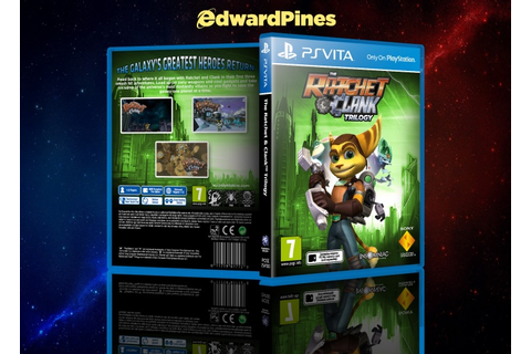 The Ratchet & Clank Trilogy PlayStation Vita Box Art Cover ...