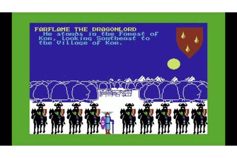 C64-Longplay - Lords Of Midnight (720p) - YouTube