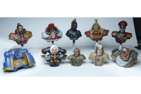 Relic Board Game Characters Painted