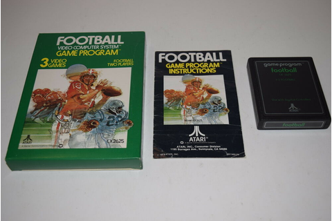 FOOTBALL Atari 2600 Video Game COMPLETE In BOX TESTED | eBay