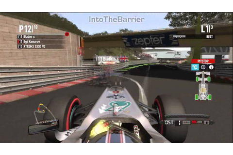 Massive F1 2011 Game Crash! - YouTube