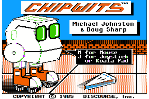 ChipWits (1985) by Discourse Apple II E game