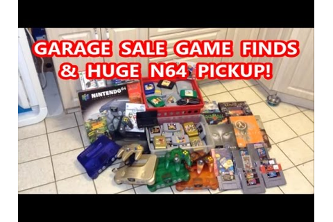 GARAGE SALE GAME FINDS & HUGE N64 PICKUP! | Scottsquatch ...