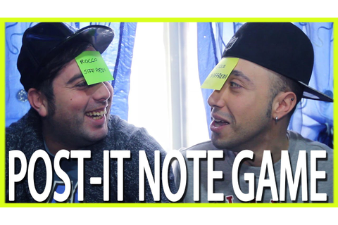 POST-IT NOTE GAME - hmatt - YouTube