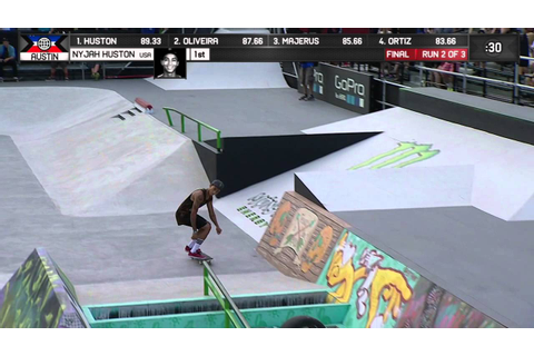 Nyjah Huston wins Skateboard Street Gold - ESPN X Games ...