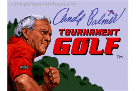 Arnold Palmer Tournament Golf - Sega Genesis - Games Database