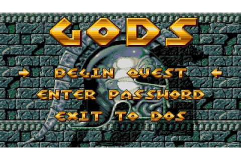 Gods gameplay (PC Game, 1991) - YouTube