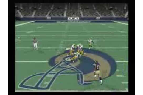 NFL QB Club 2002 Playstation 2 (Packers vs Rams) - YouTube