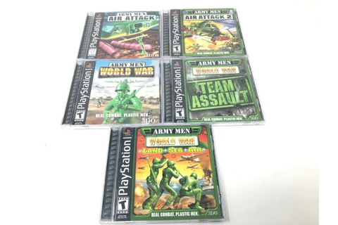 Army Men PS1 Playstation 1 Game Lot NICE ~ Air Attack ...