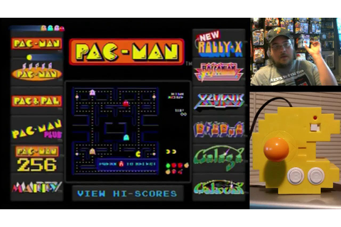 Pac-Man Connect & Play game system part 1 - game play ...