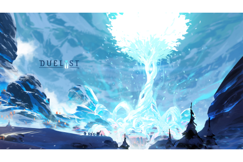 Magical tree blooming in winter Wallpaper from Duelyst ...