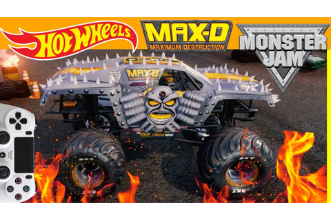MONSTER JAM VIDEO GAME with REAL HOT WHEELS MONSTER JAM ...