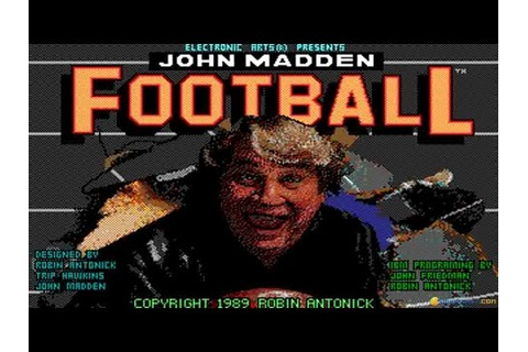 John Madden Football gameplay (PC Game, 1988) - YouTube
