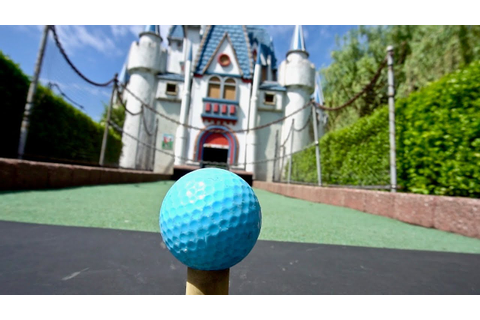 COMPETITIVE MINI GOLF at Castle Fun Park - YouTube
