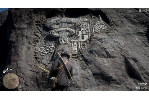 Where to find all Rock Carvings in Red Dead Redemption 2 ...
