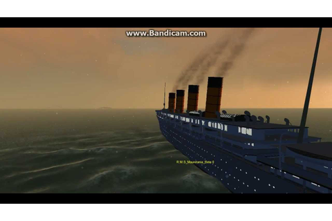 Rms Mauretania In Virtual Sailor 7 - YouTube