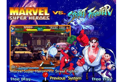 Marvel Super Heroes vs. Street Fighter (Arcade) - YouTube