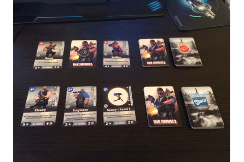 Team Fortress 2 - the card game, a team vs team ...