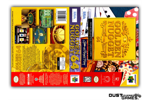 Golden Nugget 64 N64 Nintendo 64 Game Case Box Cover Brand ...