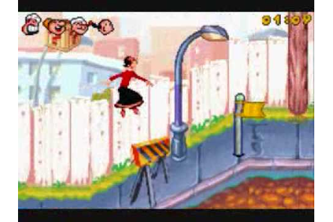 Popeye's Rush For Spinach - Olive Oyl Gameplay - YouTube