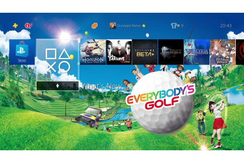 Free Everybody's Golf PS4 Dynamic Theme Released