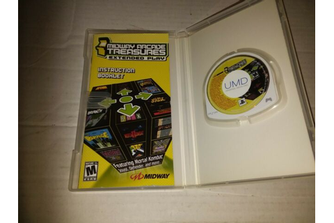 Midway Arcade Treasures Extended Play Sony PSP Game 2005 ...