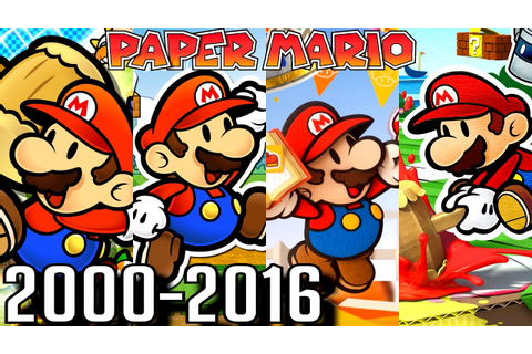 Paper Mario ALL INTROS 2000-2016 (Wii U, 3DS, Gamecube ...