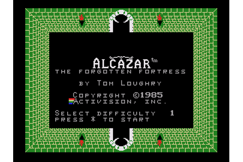 Alcazar: The Forgotten Fortress (1985) by Activision ...