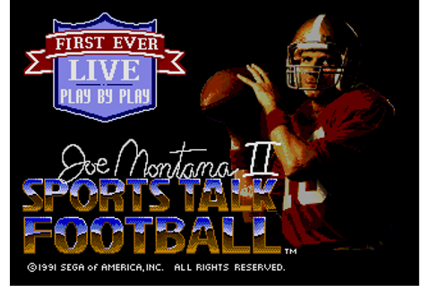 Dorando: Games: Joe Montana Sports Talk Football 2