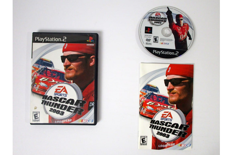 NASCAR Thunder 2003 game for Playstation 2 (Complete ...