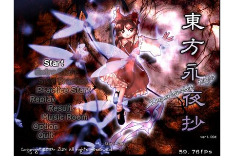 Touhou 8 Imperishable Night Free Download PC Game ...