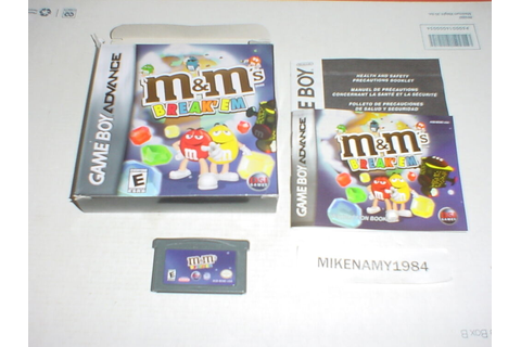 M&M's BREAK'EM game complete for GAME BOY ADVANCE or DS ...