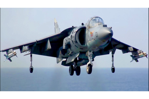 AV-8B Harrier Landing/Takeoff on Navy Amphibious Assault ...