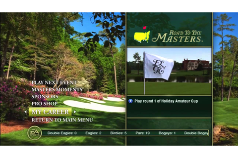Tiger Woods PGA TOUR 12: The Masters - Menu Overview - YouTube