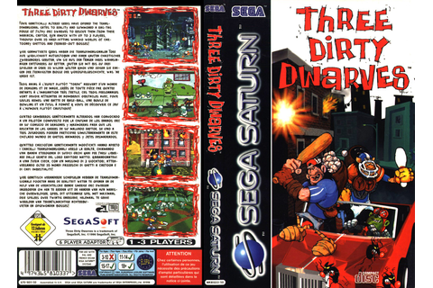 Sega Saturn T Three Dirty Dwarves E Game Covers Box Scans ...