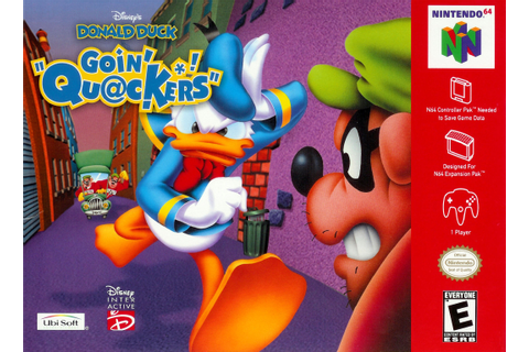 Donald Duck Going Quackers Nintendo 64 Game