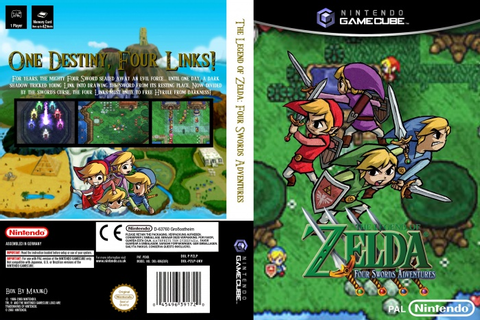 The Legend of Zelda: Four Swords Adventures GameCube Box ...