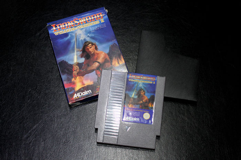 "NES game ""Ironsword: Wizards & Warriors II"" in original ..."