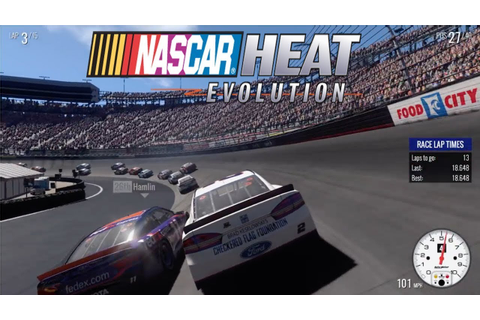 Nascar Heat Evolution Part 4 - YouTube