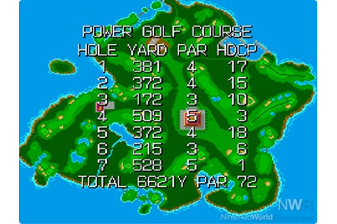 Power Golf - Game - Nintendo World Report
