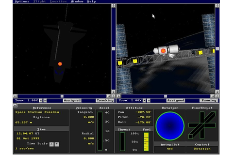 Microsoft Space Simulator Screenshots for DOS - MobyGames