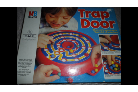 CLOSE LOOK AT MB GAMES TRAP DOOR VINTAGE BOARD GAME ...