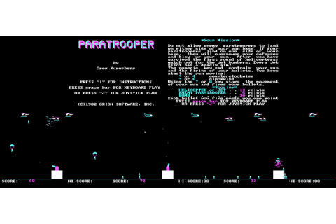 FRGCB - Finnish Retro Game Comparison Blog: Paratroopers ...