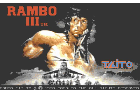 Download Rambo 3 shooter for DOS (1988) - Abandonware DOS