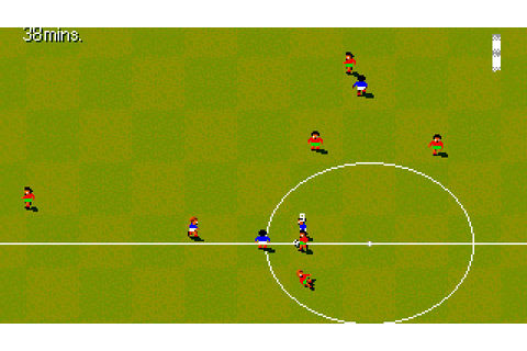 DOS Game: Sensible World of Soccer - European Championship ...
